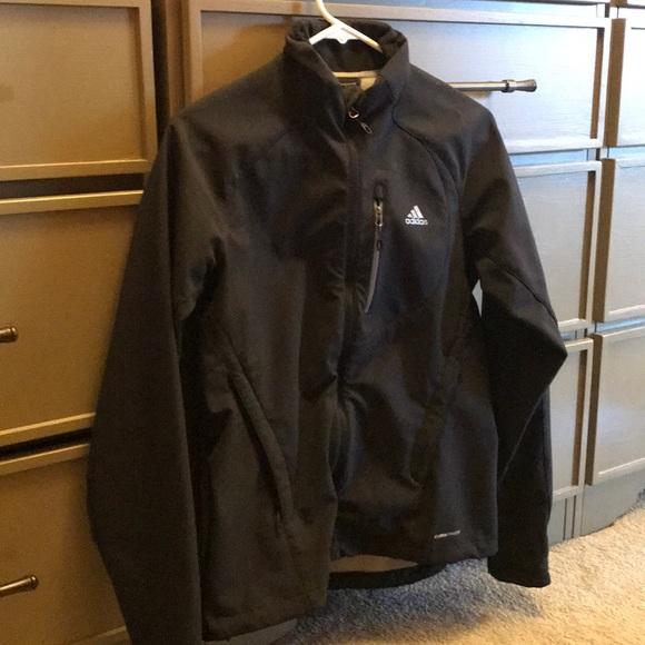 eca5f9ff0 adidas Jackets & Coats | Black Allweather Jacket Size Small | Poshmark